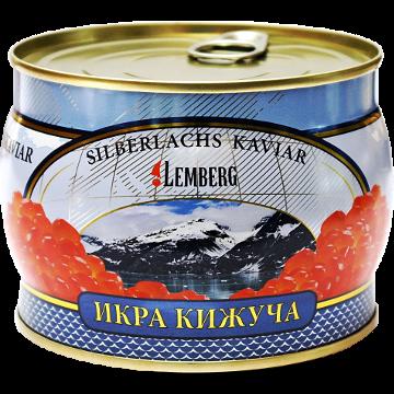 Икра красная кижуча ТМ Lemberg - Лемберг ж/б, 500 грамм
