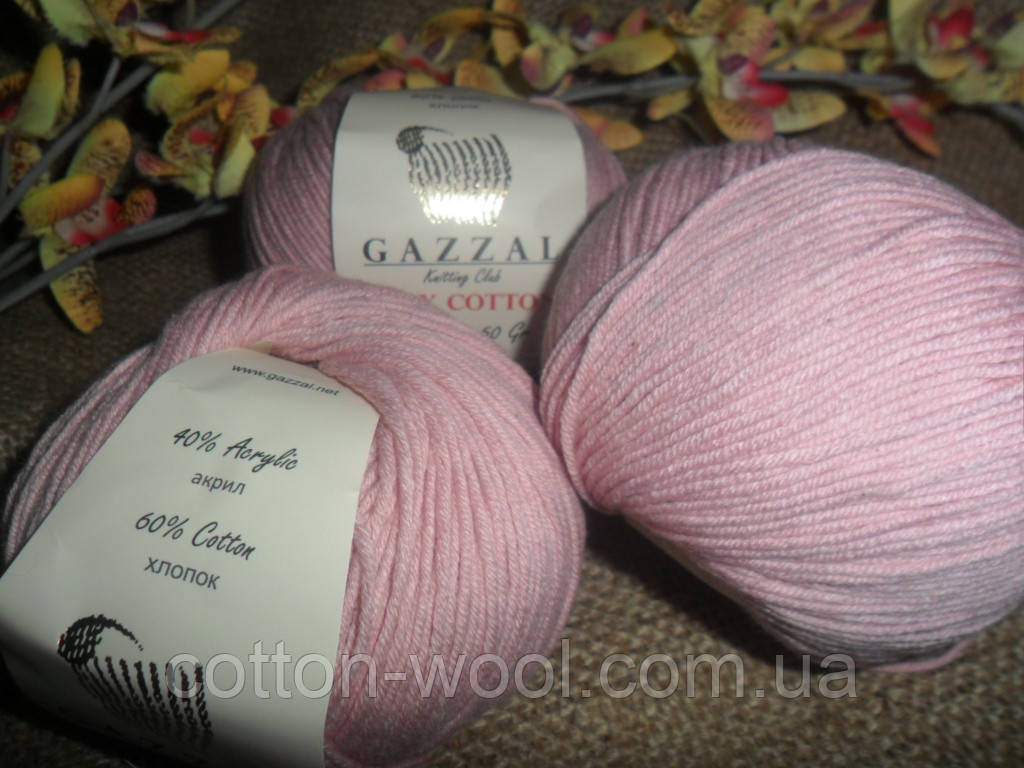GAZZAL Baby Cotton(Беби Коттон) 3444 пыльно розовый