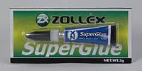 Клей СУПЕР ZOLLEX SuperGlue 3г