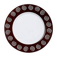 Тарелка десертная Luminarc Sirocco Brown круглая с бортом d19,5 см стеклокерамика (4884H)