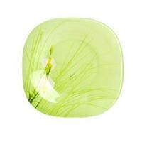 Тарелка десертная Luminarc Sofiane Green квадратная d19,5 см ударопрочное стекло (7808J)