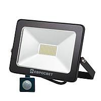 Светодиодный LED прожектор EV 50 Вт 6400К 4000 Lm c датчиком
