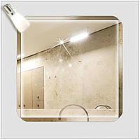 "Зеркало со светильником ""Ф-6"" (65х65)см"