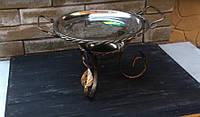 Садж. Тарелка для подогрева шашлыка с коваными элементами