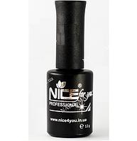 Топ КАУЧУКОВЫЙ Nice for you 12 ml - закрепитель гель-лака для тонких ногтей