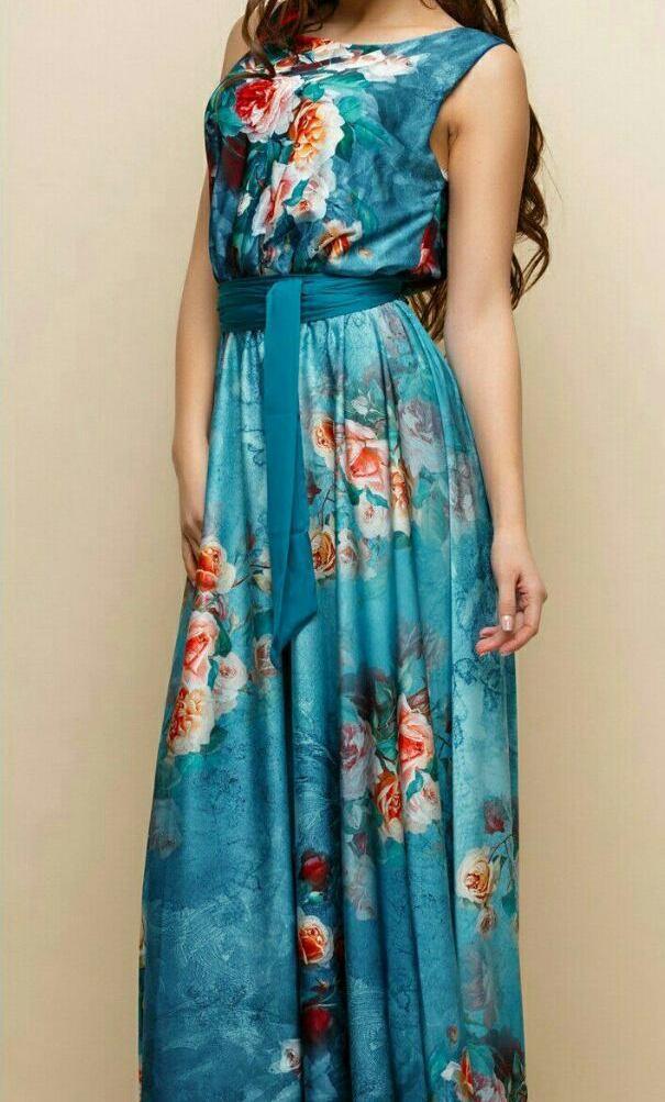 Платье из принтованного шелка женское