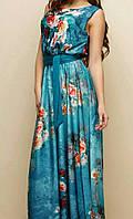 Платье из принтованного шелка женское, фото 1