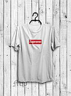 Стильная мужская футболка Supreme белая