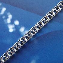 Серебряный браслет, 225мм, 6 грамм, плетение  Бисмарк, фото 3