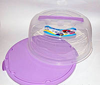 Тортовница с крышкой круглая Irak Plastik (30х15) d-29 см