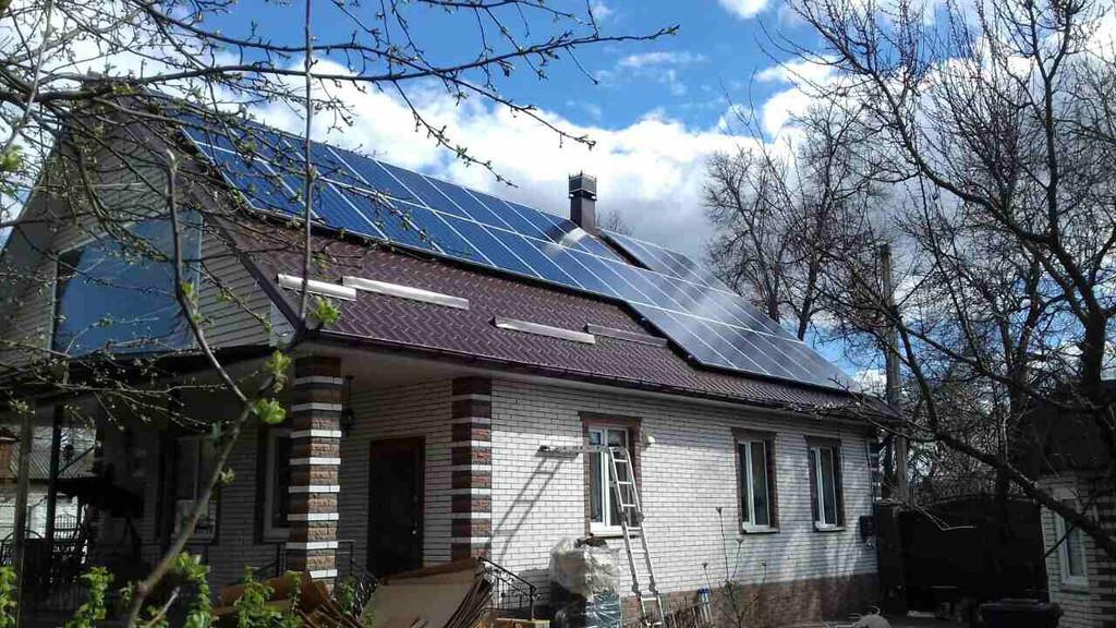 """Сетевая солнечная электростанция 17 кВт под """"зеленый"""" тариф г. Прилуки, Черниговская область."""