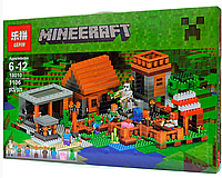 Конструктор Майнкрафт Lepin 18010 Деревня (аналог Lego Майнкрафт, Minecraft 21128)