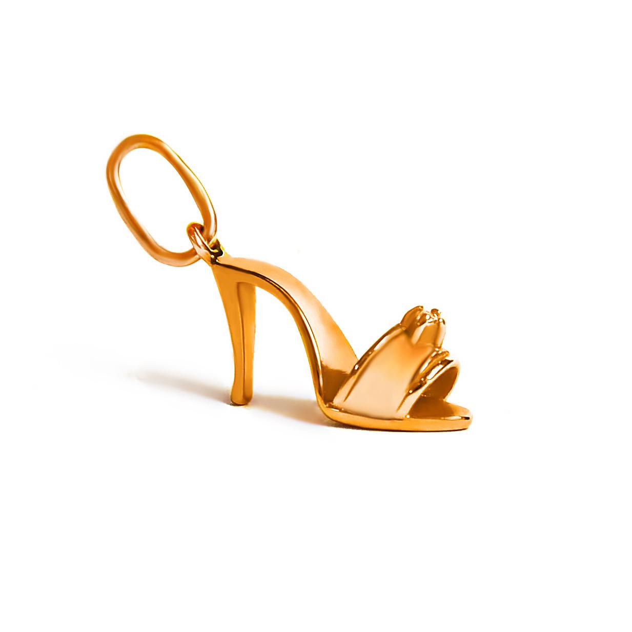 Золотой подвес  Туфелька