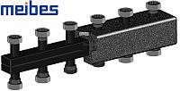 Коллектор Meibes на 7 отопительных контуров (из черной стали) 66301.4