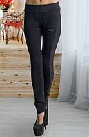 Молодежные женские лосины черного цвета u-t6112280