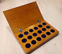 Планшетка деревянная для хранения монет