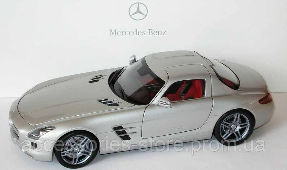 Модель Mercedes-Benz SLS AMG, Silver, Scale 1:18