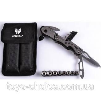 Многофункциональный Нож (Мультитул) С Комплектом Бит Ms-005