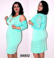 Платье с гипюровым болеро 50,52,54,56
