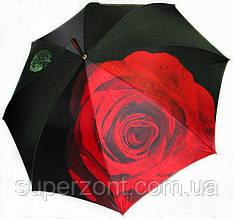 Дизайнерский женский зонт-трость, полуавтомат Doppler 12021 РОЗА 4 Ручная сборка