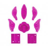 """Плунжер с оттиском """"Орхидея Цимбидиум"""" набор из 8 форм"""