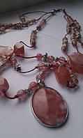 Бусы с розовым кварцем «Утренняя заря», фото 1