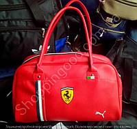 Сумка Puma Ferrari 114704 малая саквояж красная унисекс спортивная кожзам размер 40см х 25см х 16см