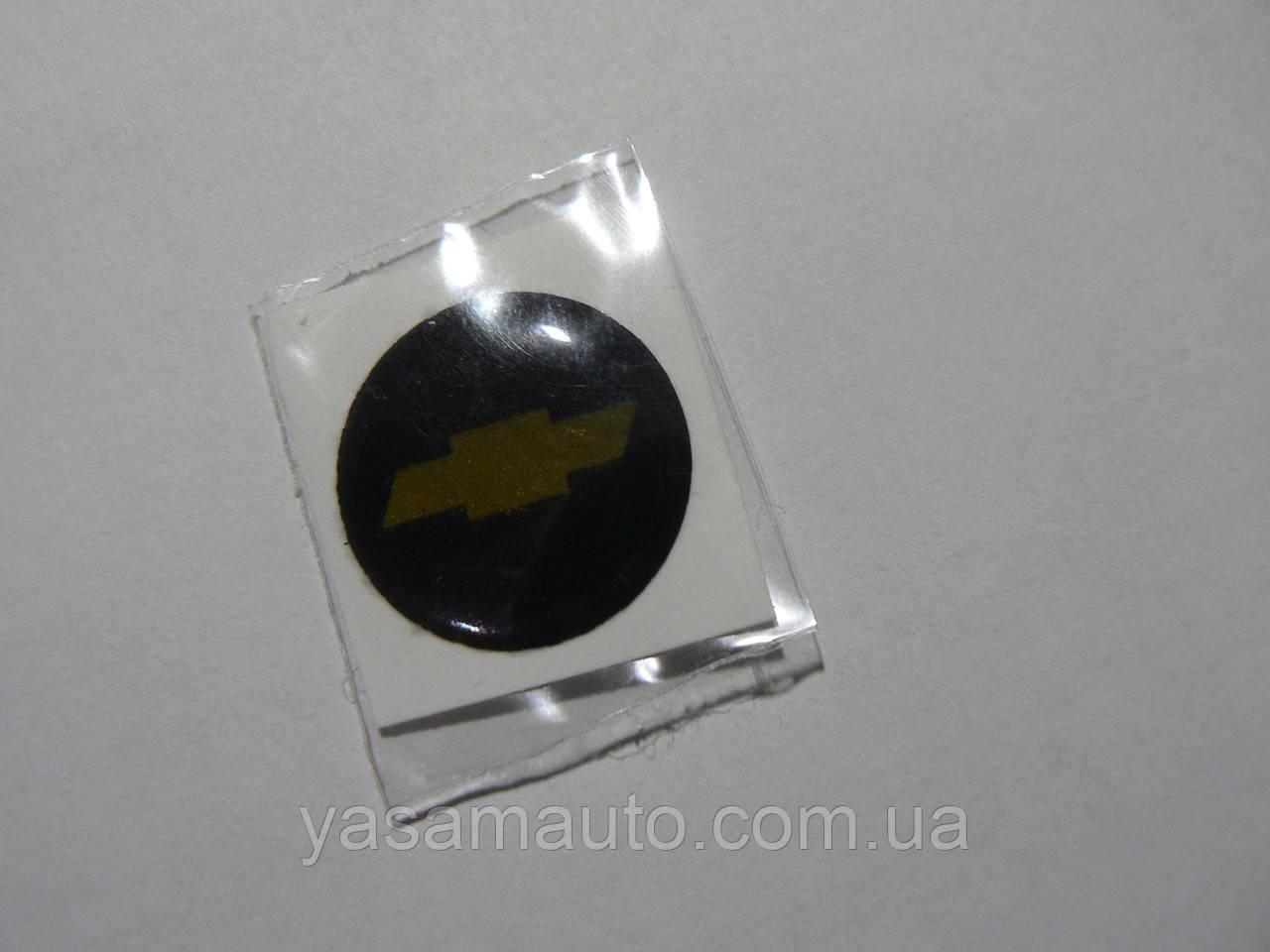 Наклейка s круглая Chevrolet 20х20х1.2мм силиконовая эмблема логотип марка бренд в круге на авто