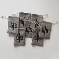 Мешочки из льна с лого