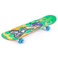 Скейт деревянный c прозрачными колесами MORE-508 (рас.3)