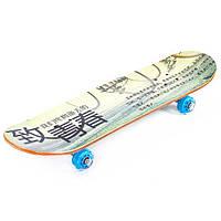 Скейт деревянный c прозрачными колесами MORE-508 (рас.5)