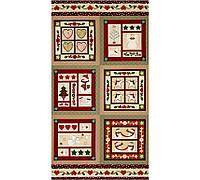 """Ткань-панель  для печворка и рукоделия """"НГ квадраты"""""""