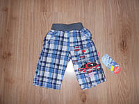 Хлопковые шорты для мальчика от года до двух лет ( примерно)