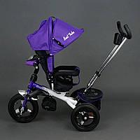 Трехколесный детский велосипед Best Trike 6590 (2017) (надувные колеса & фара & поворотное сидение)