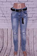 Женские стильные турецкие джинсы больших размеров Red Sold (код 11215)