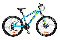 "Велосипед 26"" Optimabikes ALPINA AM 14G DD рама-18"" Al голубой (м) 2017"
