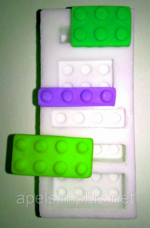 """Молд силиконовый """"Лего набор №1"""" 8,8 см 4,0 см"""