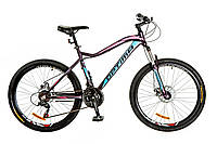 "Велосипед 26"" Optimabikes ALPINA AM 14G DD рама-18"" Al фиолетово-голубой (м) 2017"