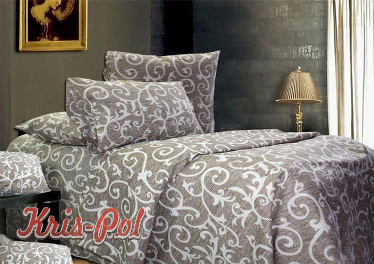 Комплект постельного белья «Бязь бежевый» двуспальный