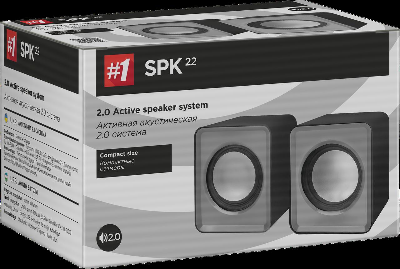 Акустическая 2.0 система Defender #1 SPK 22, 5 Вт, питание от USB