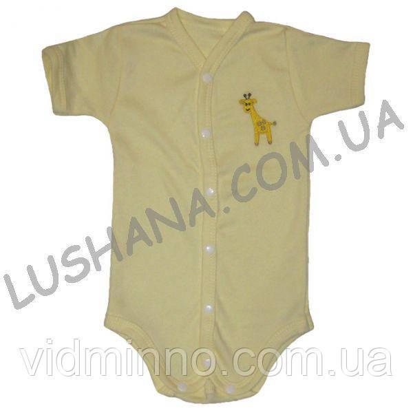 Бодик - футболка Жираф на рост 62-68 см - Интерлок