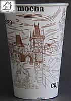 Одноразовый бумажный стаканчик 340 мл Цветной (Башня)