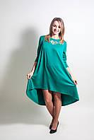Платье с асимметрией для беременных и кормящих мам, колокольчик
