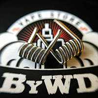 Fused Clapton Coil (Kanthal 2*0.4 + Nichrome 0.2; 6 витков; ⌀2.5 мм), 2 шт.