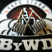 Twisted Clapton Coil  (Ka 2*0.3 + Ni 0.2; 6 wraps; ⌀2.5 мм)