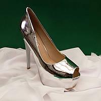 Туфли на высоком каблуке, с открытым носком