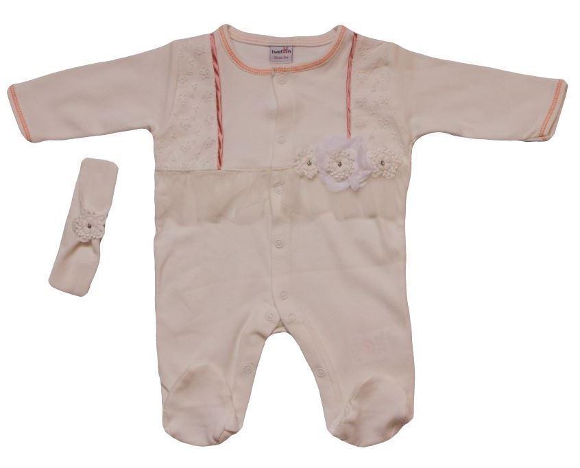 Человечек комбинезон с повязкой для новорожденного (62 см) Турция