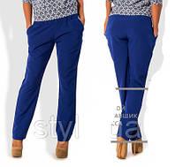 Женские брюки на резинке синие