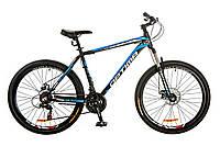 """Велосипед 26"""" Optimabikes MOTION AM 14G DD рама-19"""" Al черно-синий (м) 2017"""