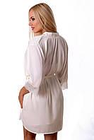 Шелковый халат с кружевом Х05н